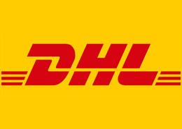 Logo van transportbedrijf DHL